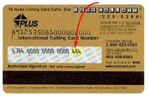 The Cvv2 Four Digit Value Is Printed On Front Of Your Credit Card Above And To Right Account Number