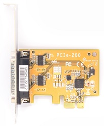 Dual serial port PCI-bus card