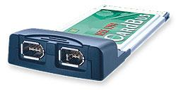 2-port Firewire (IEEE 1394) PCMCIA (Cardbus) card