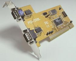 Dual serial PCI-bus card