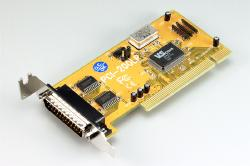 Dual serial card (PCI-bus, low-profile)