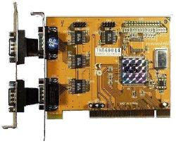 4 serial port PCI-bus card