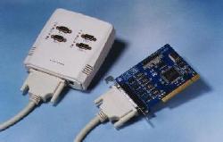 4 serial port PCI-bus card (9-pin COM-BOX)