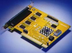 4 serial, 1 parallel PCI-bus card (9-pin COM-BOX)