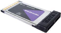 2-port SATA PCMCIA (Cardbus) card