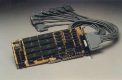 8 serial port ISA-bus card (25-pin)