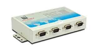 USB to 4 serial port adapter, metal (RS422/485, 120V)