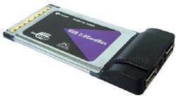 2-port USB 2.0 PCMCIA (Cardbus) card