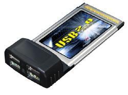4-port USB 2.0 PCMCIA (Cardbus) card