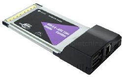 PCMCIA CardBus USB & Firewire Combo Card