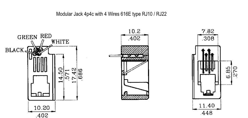 rj22 wiring diagram wiring free printable wiring diagrams